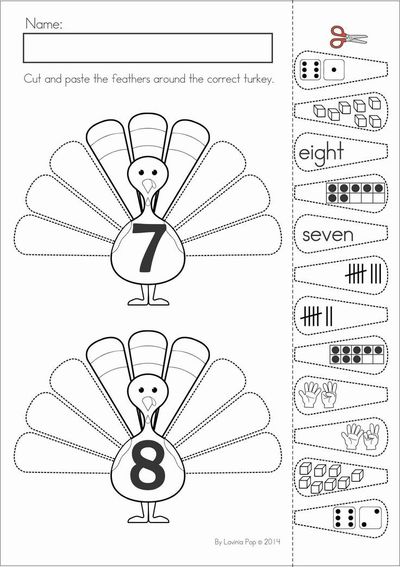 math worksheet : kindergarten thanksgiving math  literacy worksheets and  : Number Sense Worksheets Kindergarten