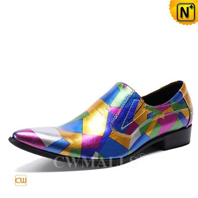 Custom Made   Mens Colorful Printed Leather Loafer CW719123   CWMALLS.COM