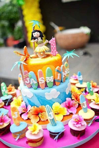 girls summer 1st birthday party ideas | items used in this party available in kara s party ideas shop