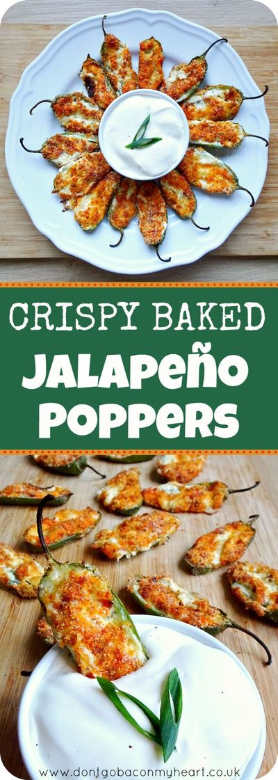 Juicy jalapeno on bottom, with a loaded center oozing out and a parmesan crunch on top. These Crispy Baked Jalapeno Poppers are a must.