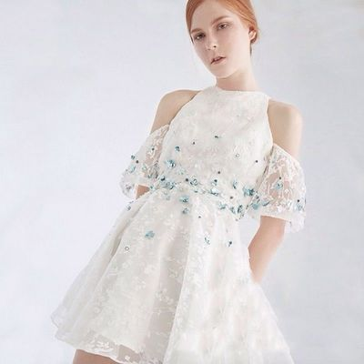 Vogue Beading Curvy A-line Off-the-Shoulder It Girl Rhinestones Formal Wear Dress Skirt - Bonny YZOZO Boutique Store