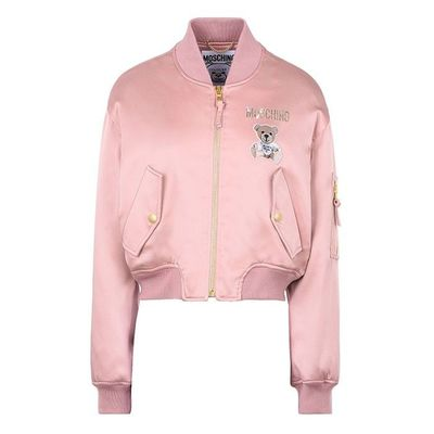 Moschino Paper Bear Long Sleeves Blazer Pink