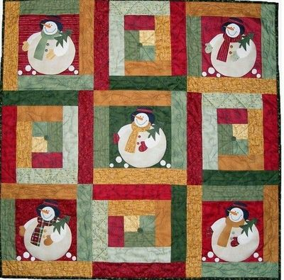 fat #snowman #quilt. I'm so amused by this!