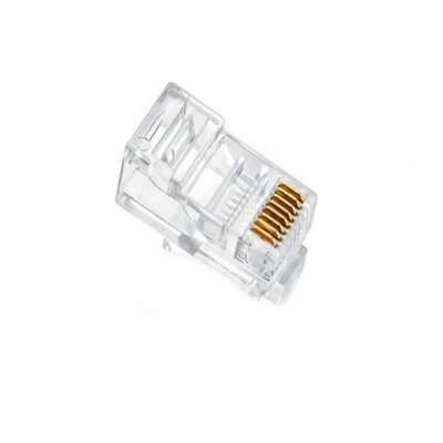50x RJ45 RJ-45 CAT5 Gold Shielded Modular Plug Network Connector