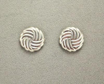 18 mm Woven Silver or Gold Knot Magnetic Earrings $30.00 Designed by LauraWilson.com