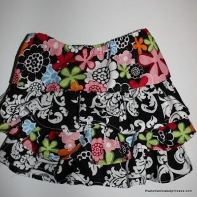 Three-Layer Ruffle Skirt Sewing Tutorial