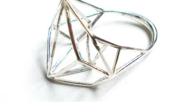 Wide Geometric Sterling Silver Ring