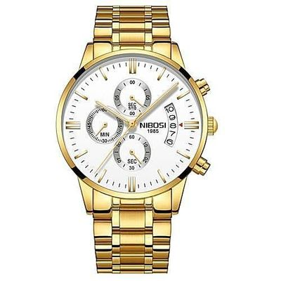 NIBOSI LEO Gold stainless steel quartz watch $39.99