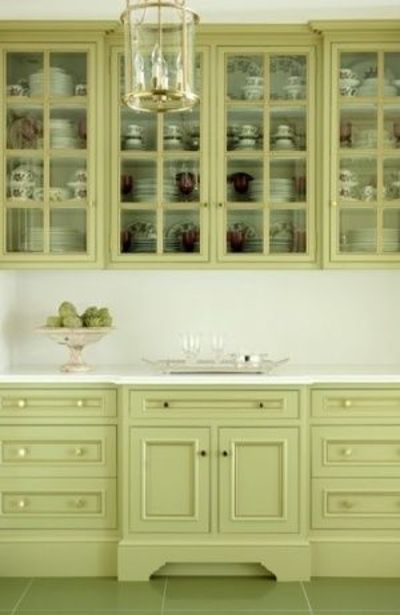 green kitchen cabinets, green kitchen and green cabinets.
