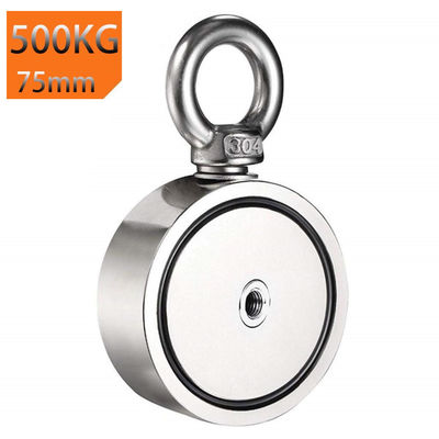 500 kg Double Side Neodymium Fishing Recovery Magnet with 10 m Rope $58.30