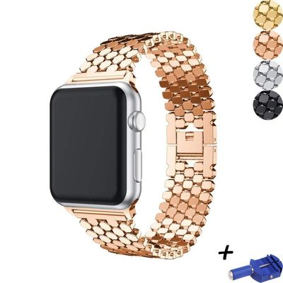 Steel links bracelet For apple watch 42mm/38mm/44mm/40mm iwatch series 4/3/2/1 $38.99
