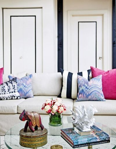 """One of the quickest ways to refresh your living room�€""""or a couch you're completely over�€""""is by changing out the pillows. We've all heard it a hundred times. But,"""