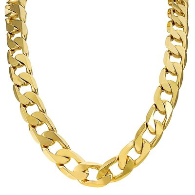 14mm gold filled cuban curb chain and bracelet set £44.95