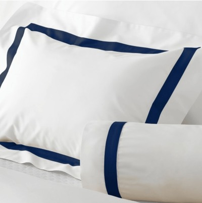 Lowell Navy Bedding by Matouk $68.00