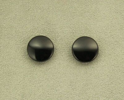 Black Obsidian Volcanic Glass 18 mm Round Magnetic Non Pierced Clip On Earrings $36.00 Designed by LauraWilson.com