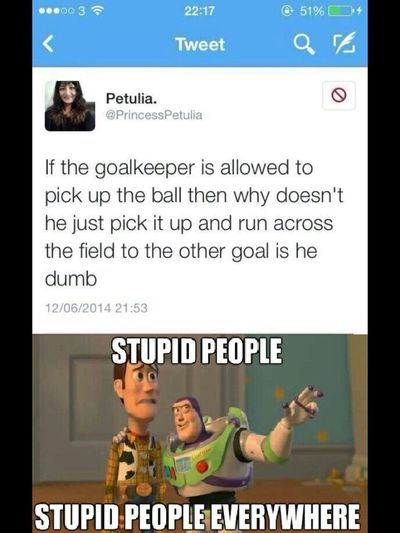 Actually, I always wondered why he couldn't throw it across the field towards the goal. Would've made life a lot easier.