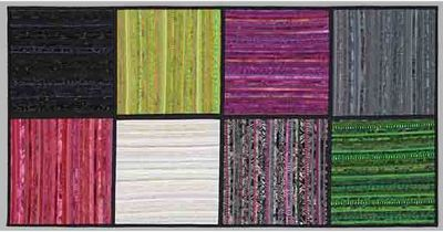 Modern art quilt. Home decor. Wall hanging. Color by AnnBrauer