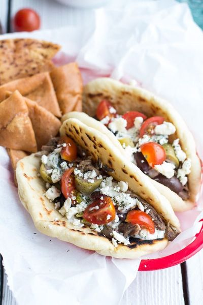 Easy Traditional Greek Gyros | halfbakedharvest.com OOOOOooooohhhhhh ~ this includes the Tzatziki sauce too! and an olive tapinade. the pitas from Costco are perfect if you don't have time to make your own.