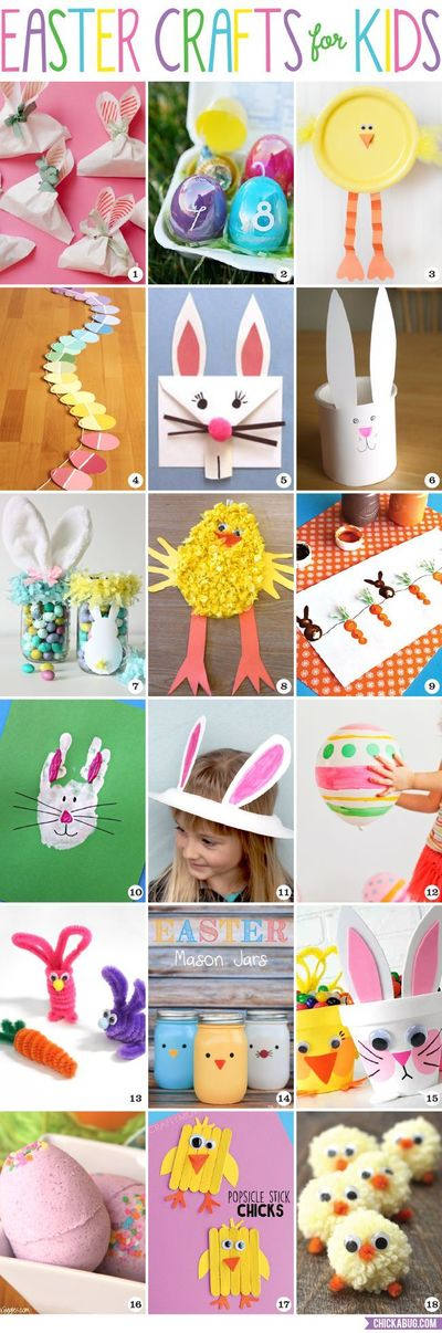 Adorable and fun easter crafts for kids of all ages for Fun crafts for kids of all ages