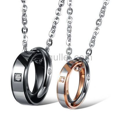 Double Ring Pendant Perfect Couples Necklaces Gift for 2 https://www.gullei.com/interlocking-circles-perfect-couples-pendant-necklaces-gift-for-2.html