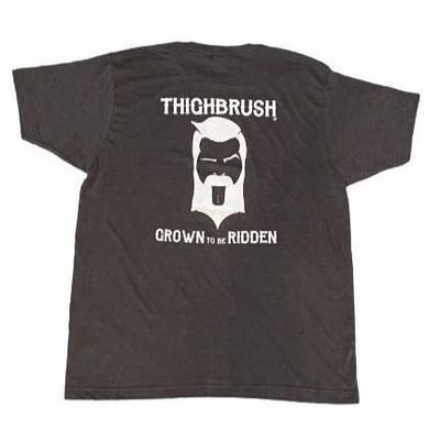 """THIGHBRUSH® BIKERS - """"Grown to be Ridden"""" - Men's T-Shirt - Charcoal Grey and White"""