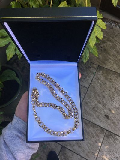 NEW CHUNKY Heavy 10mm Thick Links 9ct Gold Filled gf SOLID Belcher Chain Necklace £6.95