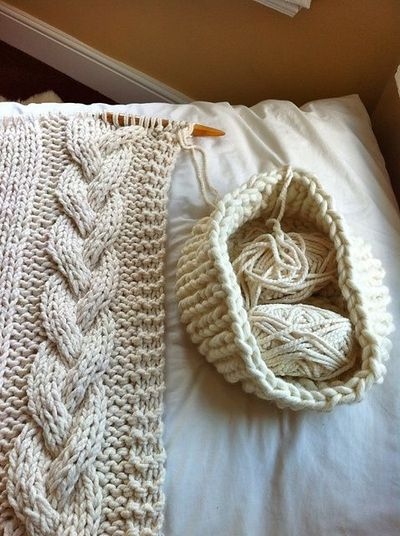 Knitting Pattern Ravelry : Ravelry: Cable Knit Blanket pattern by Knitting Revolution / knits and kits -...