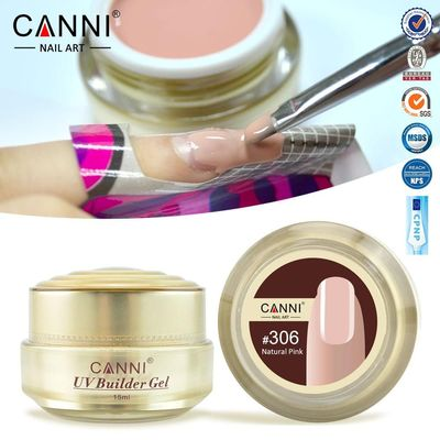CANNI Thick Builder Gel Nails Pink 15ml Finger Nail Extension UV Gel Nail Cover Pink Camouflage UV Gel $10.49