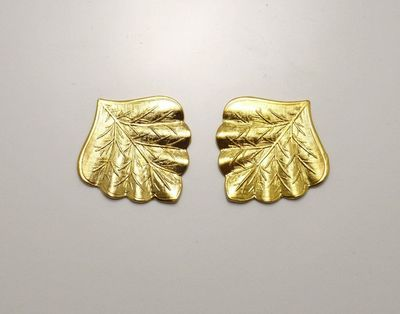 Embossed Leaf Magnetic Non Pierced Clip or Pierced Earrings $35.00 Designed by LauraWilson.com