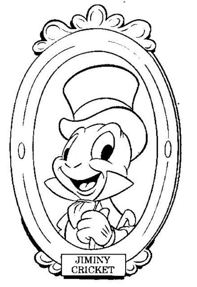 Disney Coloring Pages Jiminy Cricket : Disney coloring pages jiminy cricket and pinocchio