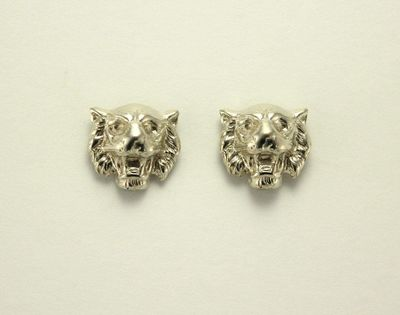 Silver Tiger Magnetic Non Pierced Clip Earrings $25.00 Designed by LauraWilson.com