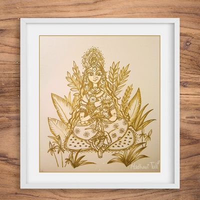 Goddess Original Art Wall Decoration Cute Nature $55.00