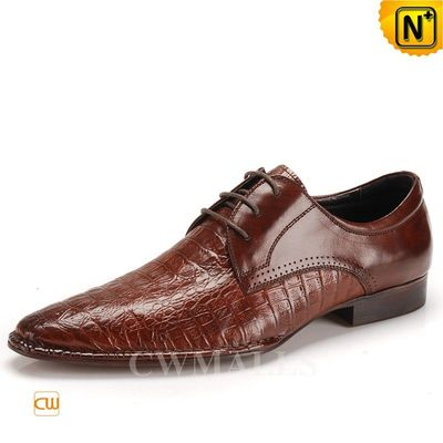 CWMALLS Embossed Leather Oxfords Shoes CW716223