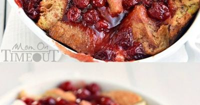 Cherry cheesecake meets breakfast in this quick and easy Baked Cherry Cheesecake French Toast! Your mouth will thank you.