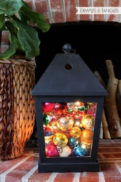 Christmas lantern decoration ideas