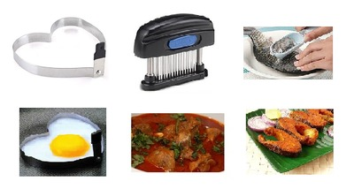 Best non veg kitchen items. Meat Tenderizer, Fish scraper and Egg processing Tools