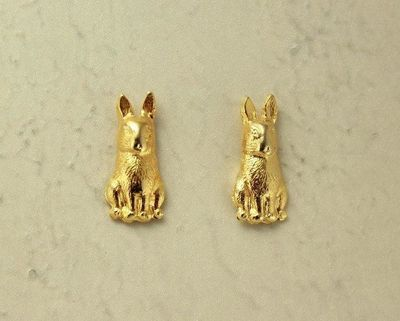 14 Karat Gold Plated Rabbit Magnetic Clip Non Pierced Earrings $25.00 Designed by LauraWilson.com