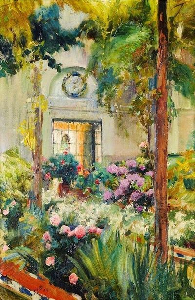 "Joaquin Sorolla y Bastida (1863 �€""1923) the garden of the sorolla house"