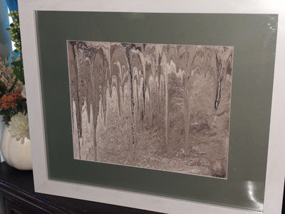Painting - Pour Method - Mat with Frame $59.00