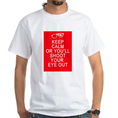 Keep Calm with Broken Glasses White T-Shirt