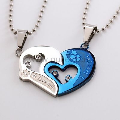 Gullei.com Connecting Hearts Boy Girl Couples Jewelry Gift