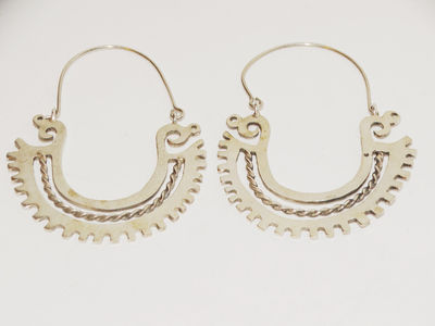Vintage Sterling Silver Made in Mexico Signed Stylish Dangle Earrings. $72.75