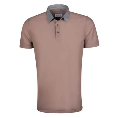 Create a stylish look with this Oxford Men Brown contrast collar polo shirt. Woven in Cotton Pique, this Polo Shirt has a fine finish. �€� 100% Cotton Pique �€� Collar �€� Machine Washable.