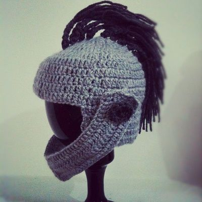 Knight Hat Knitting Pattern : #knight #crochet #hat #babyhat #tricote #baby #cool #funny -... / crochet ide...