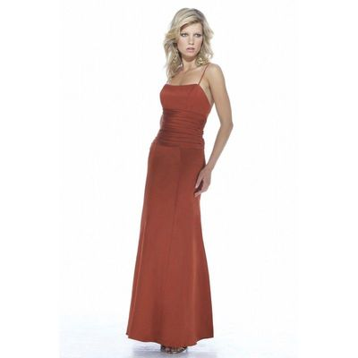 Simple A-line Spaghetti Straps Draping Ruching Floor-length Satin Bridesmaid Dresses - Dressesular.com