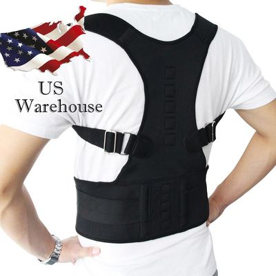 Aptoco Magnetic Therapy Posture Corrector Brace Shoulder Back Support Belt for Braces & Supports Belt Shoulder Posture US Stock $16.76