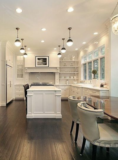 """My first kitchen had cherry wood, beige counters, and a tile floor. It was really pretty �€"""" I so wish I had a picture to show you. But as much as I liked it, I m"""