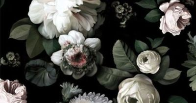 Wonderful depth and an almost photographic quality to this floral wallpaper by Ellie Cashman