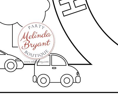 Cars and Trucks Birthday Decor Coloring Page Table Runner for First Birthday Decorations / Kids Table Activities / Children's Party Games $28.74