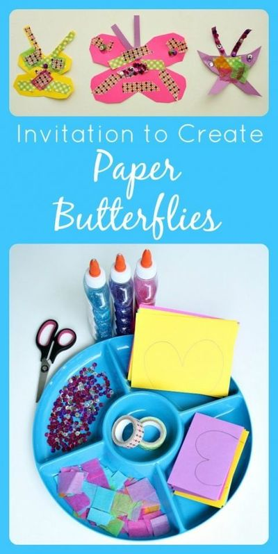 Use basic craft materials to create this easy butterfly craft for kids